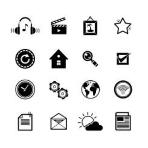 Icônes de médias sociaux mobiles vecteur