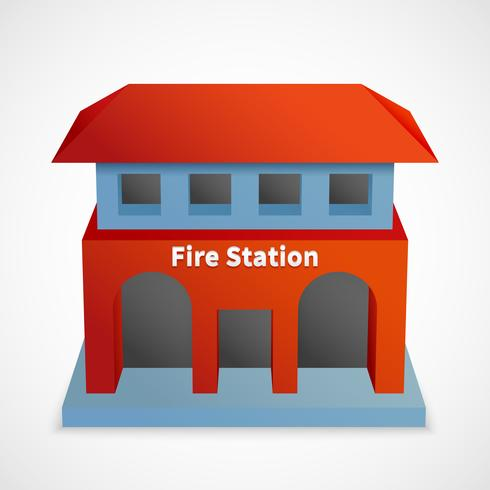 Brandstationbyggnad vektor
