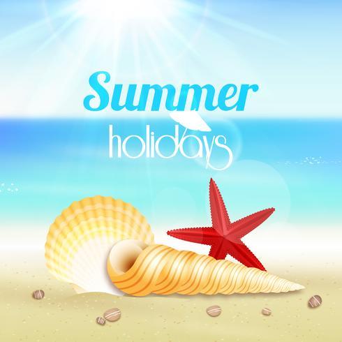 Summer holiday vacation travel poster