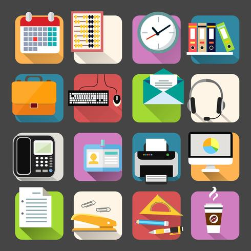 Business Flat Icons Set vector