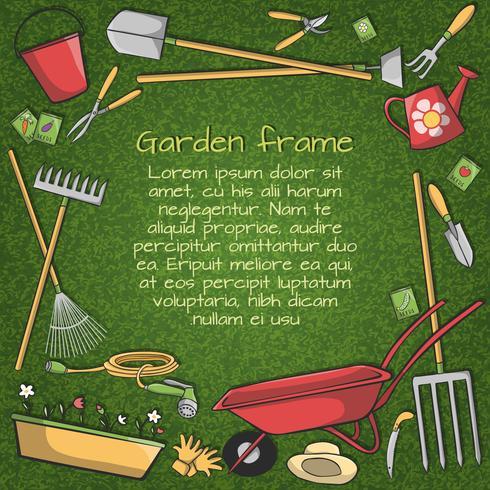 Trädgårdsredskap ram