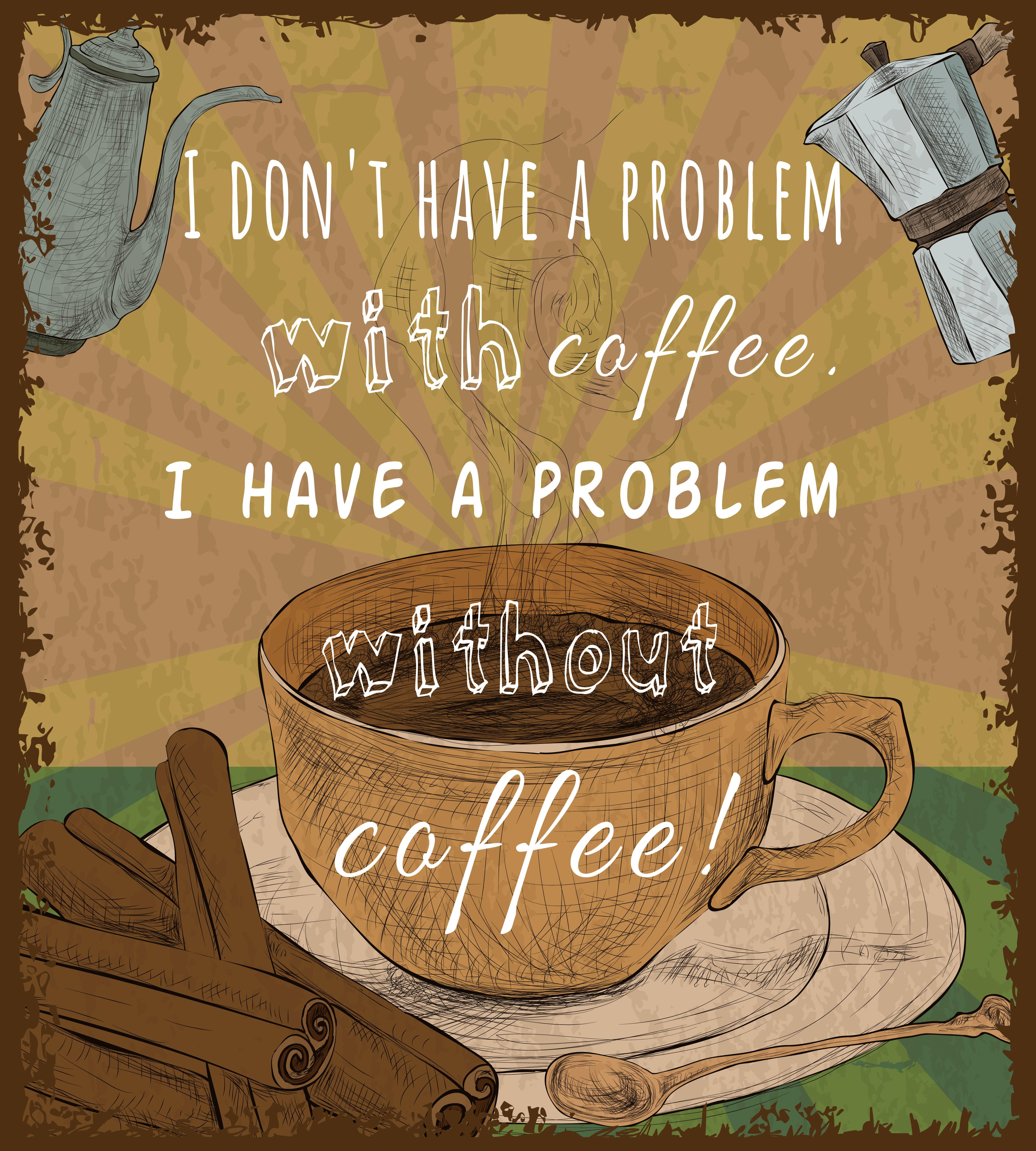 Retro coffee cup poster - Download Free Vectors, Clipart Graphics & Vector Art