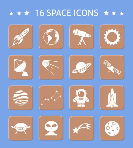 Space and astronomy buttons vector