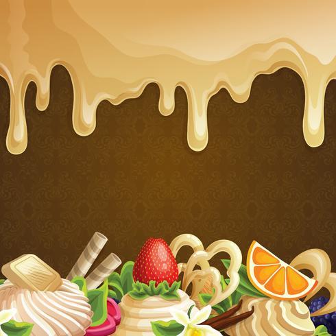 Fondo de dulces de caramelo vector