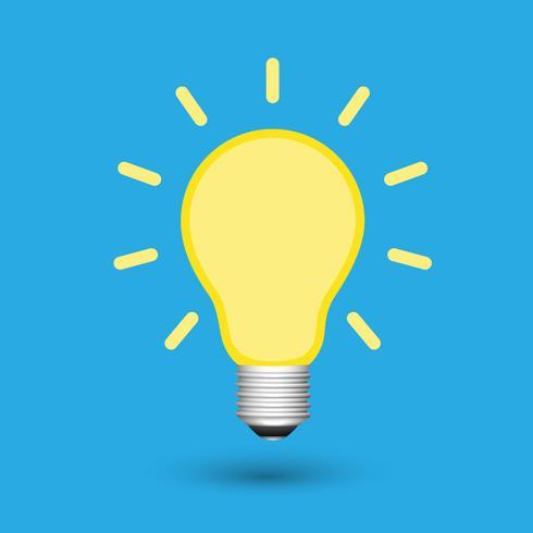Idéia criativa de lâmpada