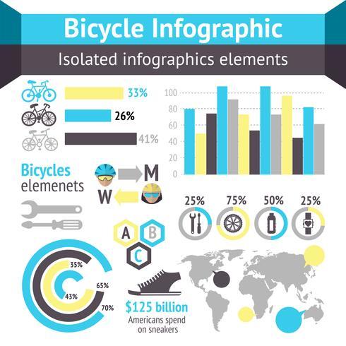 Elementi infographic di biciclette vettore