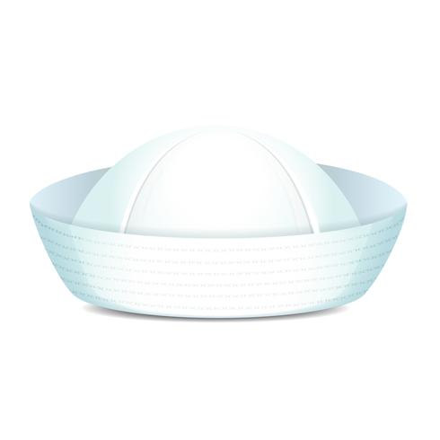 Sombrero de marinero enarbolado vector
