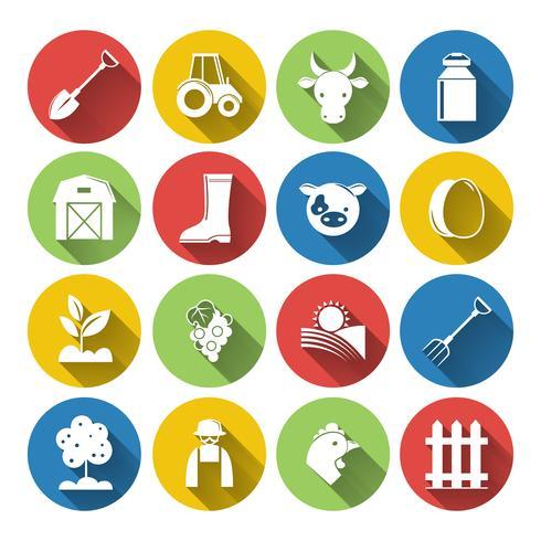 Conjunto de iconos de la agricultura