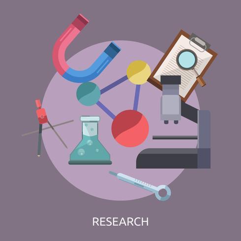 Forschung konzeptionelle Illustration Design