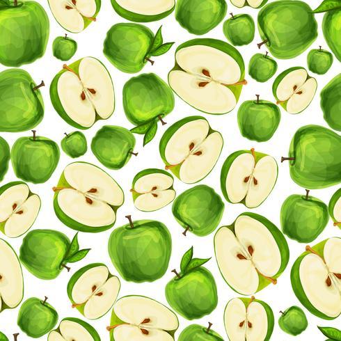 Naadloos appelfruit gesneden patroon