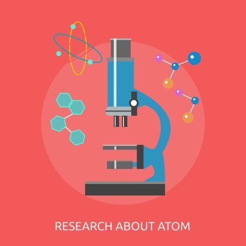Forschung Atom konzeptionelle Illustration Design