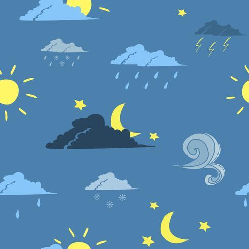 Sömlös väderprognos bakgrund vektor