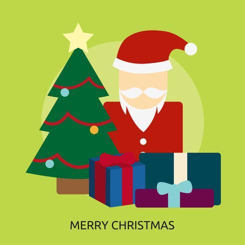 Feliz navidad conceptuales ilustración diseño