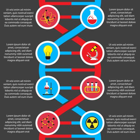 Infografía plana o química de biología.