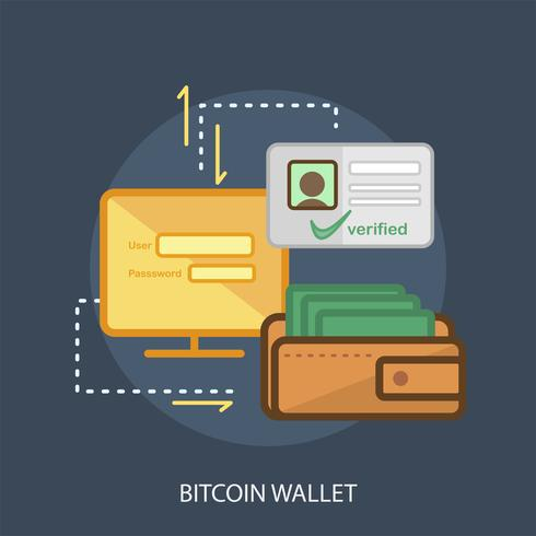 Bitcoin Wallet Konzeptionelle Darstellung