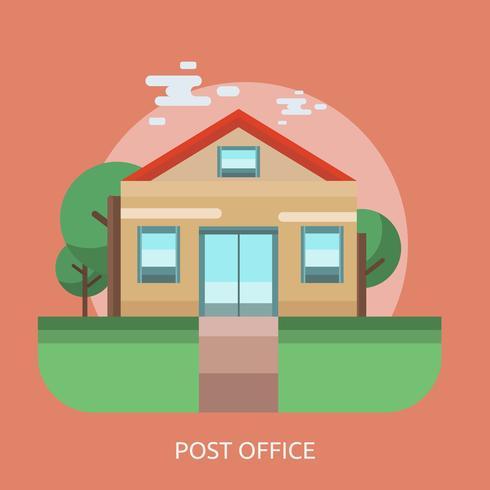 Postkontor Konceptuell illustration Design