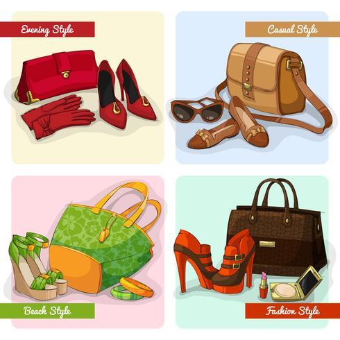 Set de bolsos mujer zapatos y accesorios