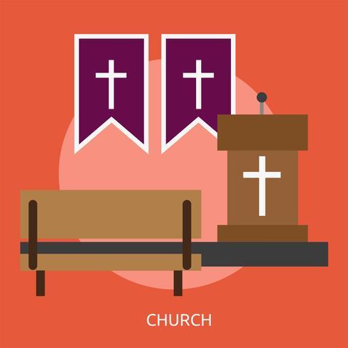 Iglesia Conceptual Ilustración Diseño vector