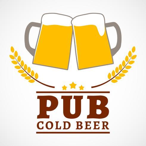 Cartel del pub de la cerveza vector