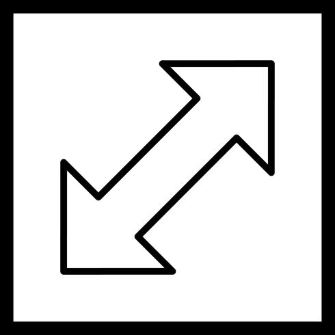 Doble flecha Vector icono