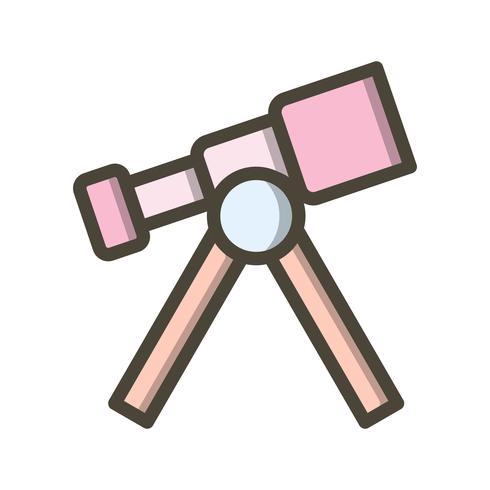Ícone de vetor de telescópio