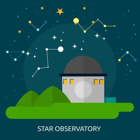 Sternobservatorium konzeptionelle Abbildung Design