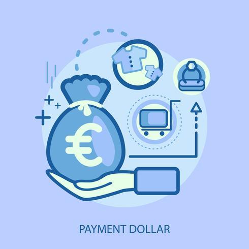 Betaling Dollar Conceptuele afbeelding ontwerp