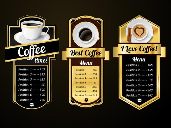 Modelli di design per il caffè