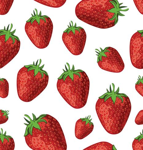 fond sans couture de fraises