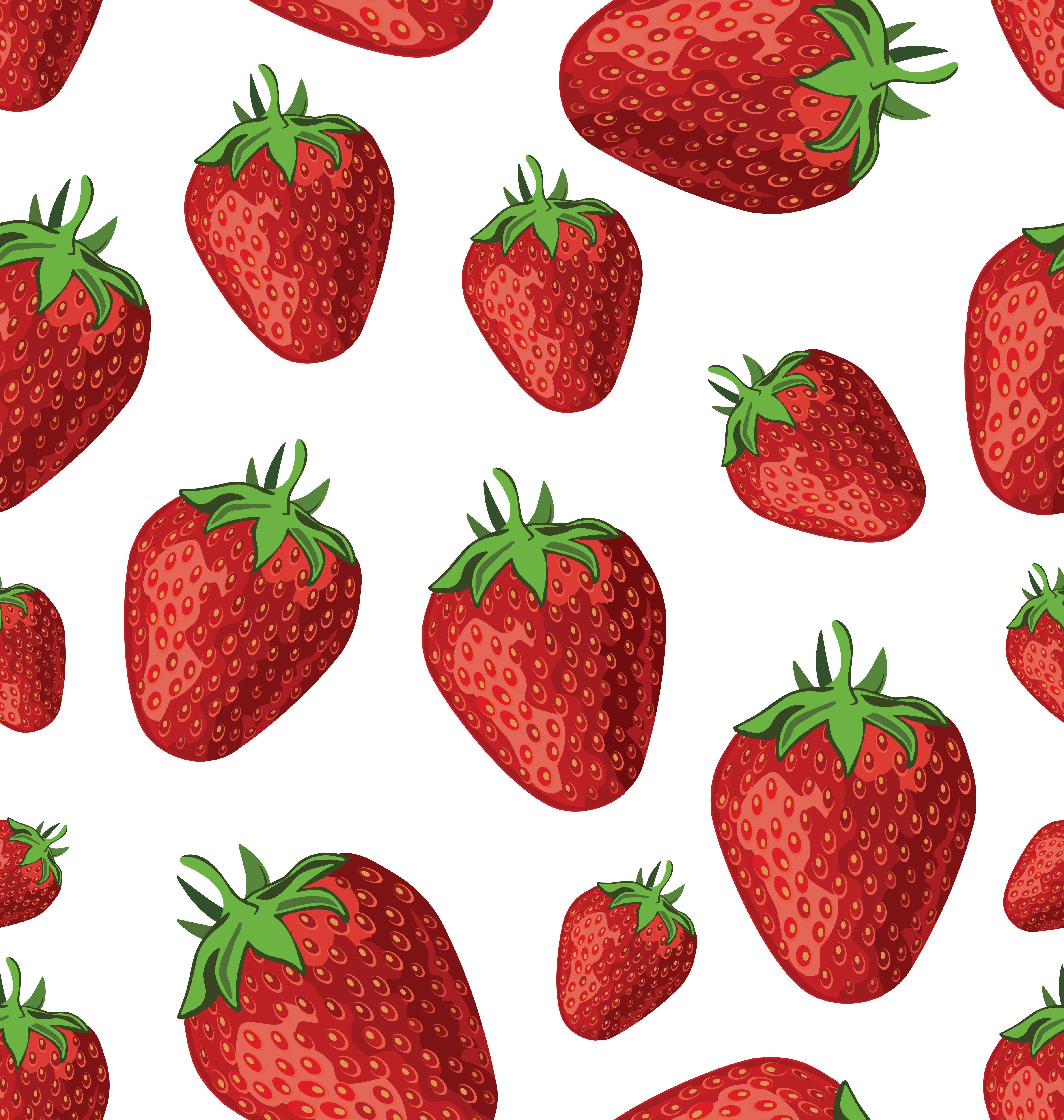 Strawberries Seamless Background