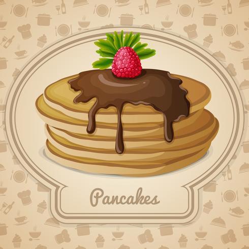 Gebackene Pfannkuchen-Emblem