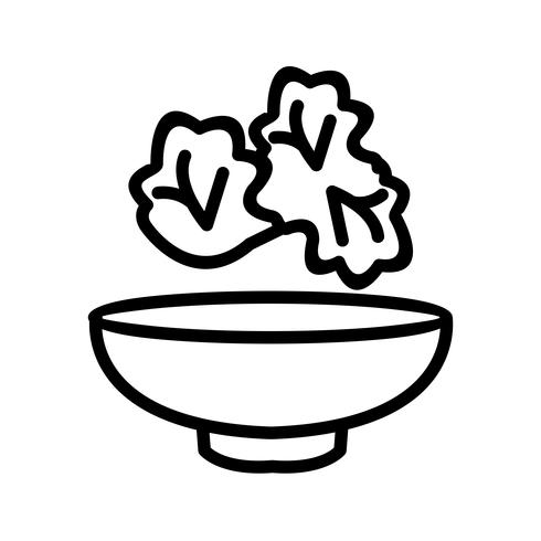 Ícone de salada de vetor