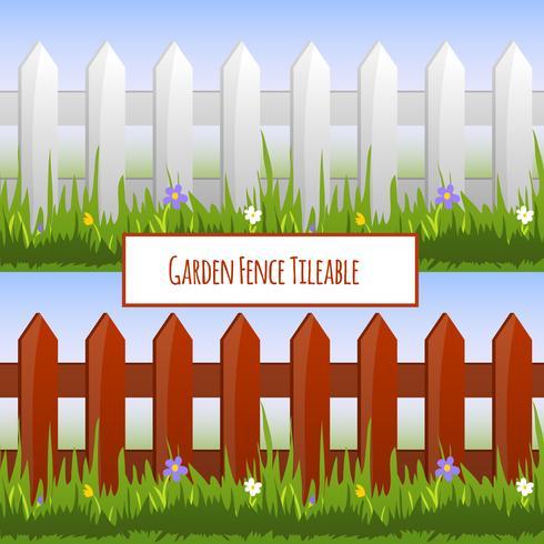 Patrón de la cerca del jardín