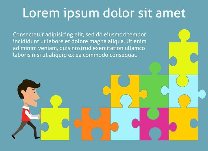 Affärssamarbete koncept vektor