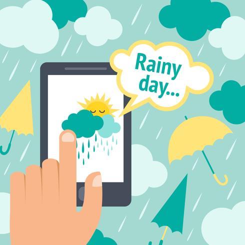 Väder smart telefonregn