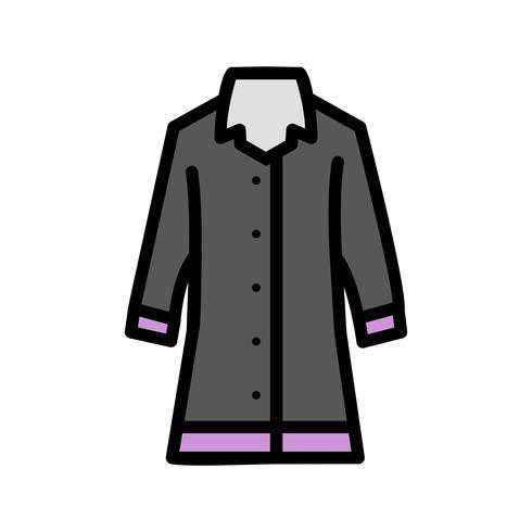 Regenmantel-Vektor-Symbol