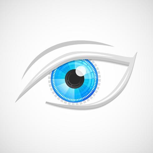 Eyes icon hi-tech vector