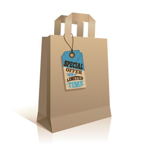 Grand sac à provisions en papier