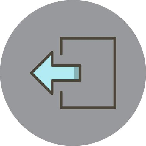 Afmelden Vector pictogram