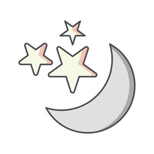 Mond und Sterne Vektor Icon