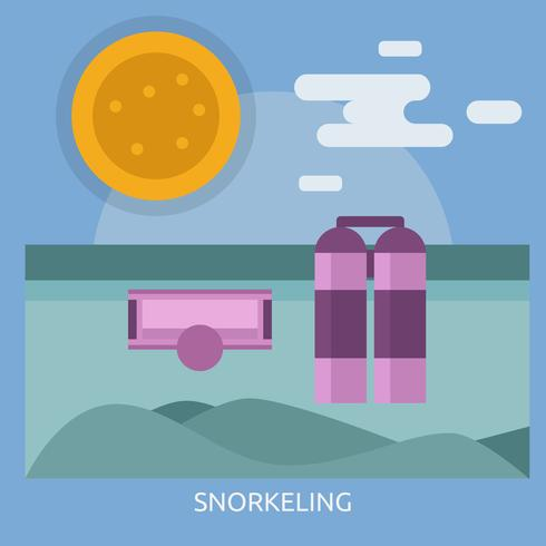 Snorkeling Conceptual illustration Design