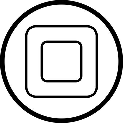 arrêter l'icône de vecteur