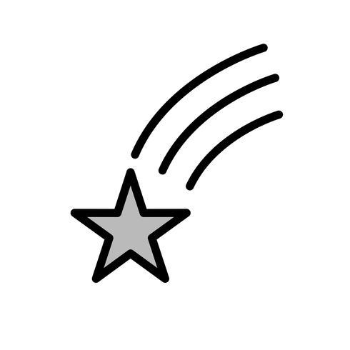 Falling Star Vector Icon