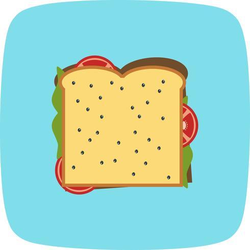 Icône de sandwich au vecteur