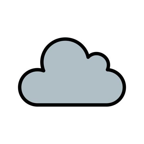 Icona di vettore del cloud