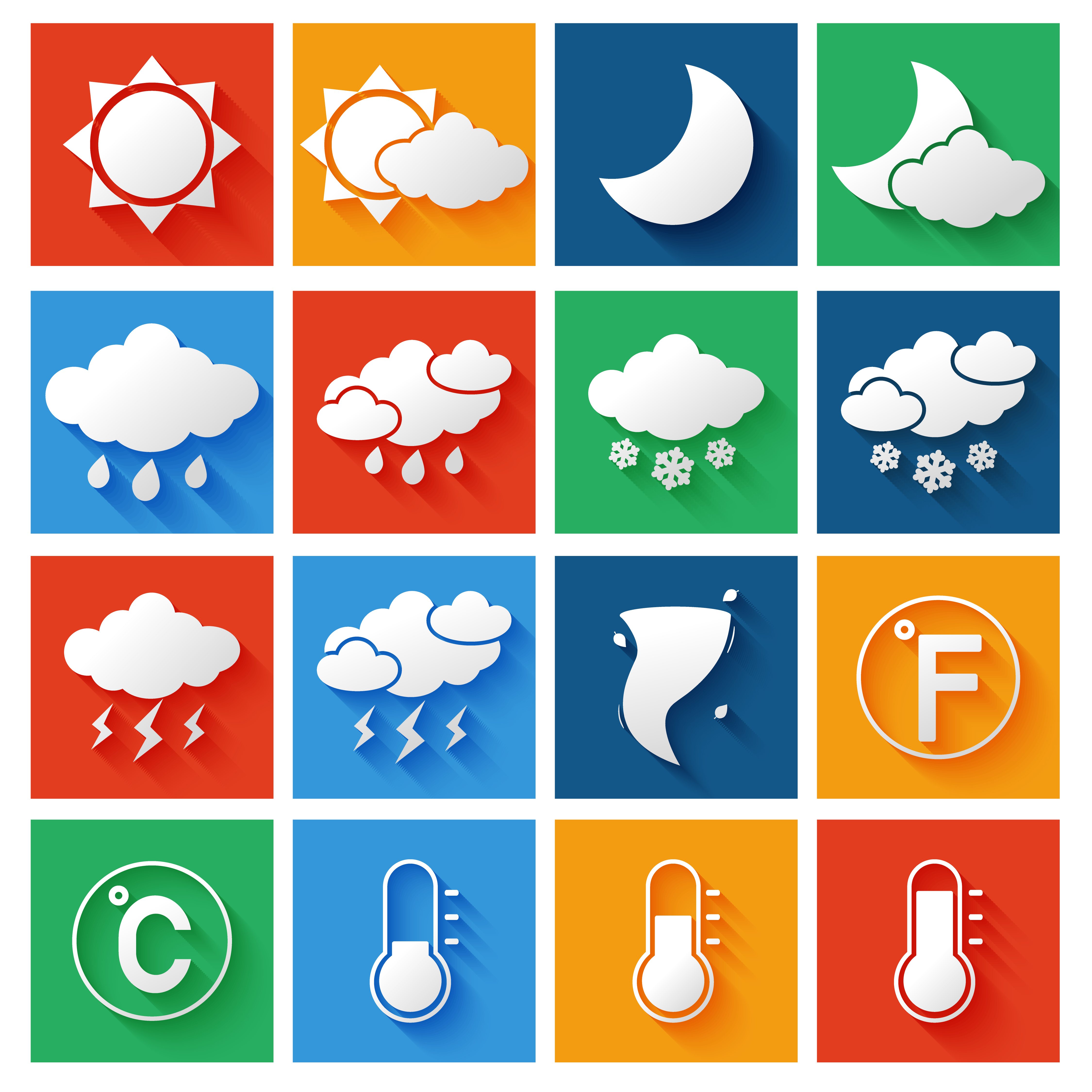 Weather Forecast Icons Set - Download Free Vectors ...  Weather Forecas...