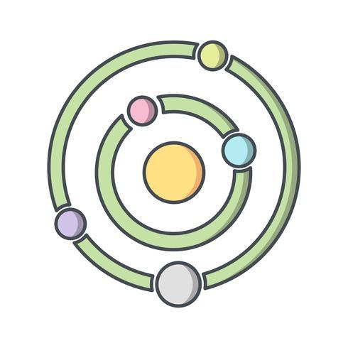 solsystem vektor ikon
