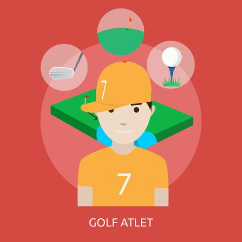 Golfatleet Conceptueel illustratieontwerp