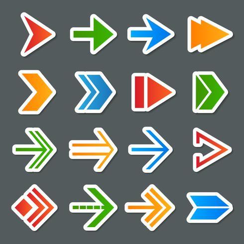 Conjunto de ícones de símbolos de seta