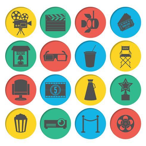Conjunto de ícones do cinema